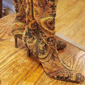 Paisley Cloth Boots